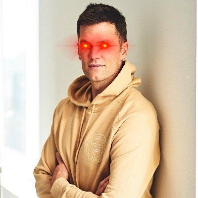 Tom Brady - The GOAT with Laser Eyes