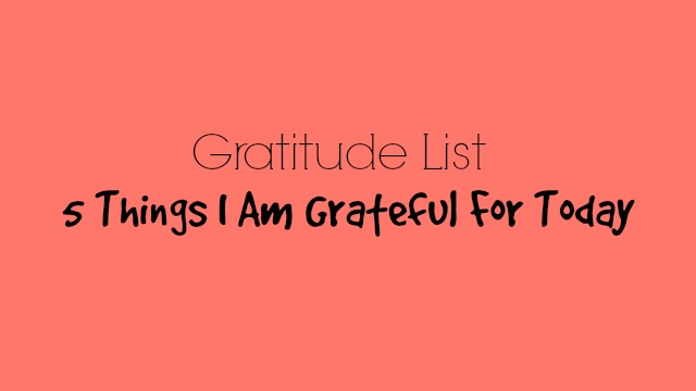 5 Things I Am Grateful for Today - Joe Connector Kennedy