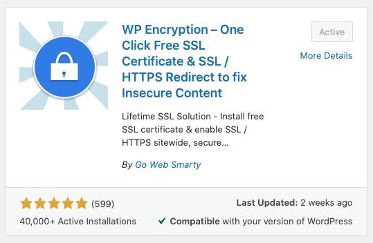 Free SSL via WP Encryption at Joe Connector