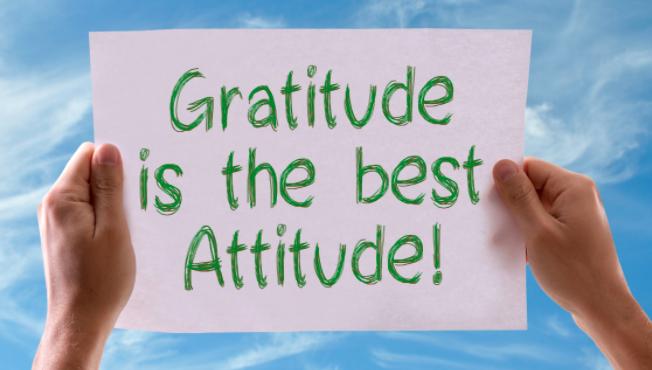 Gratitude Best Attitude Joe Connector